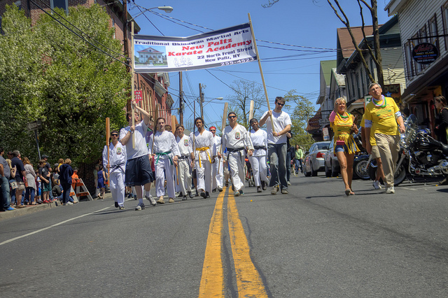 New Paltz Karate Academy, marching with military precision