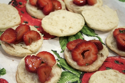 Strawberry Basil Shortcakes + Revealing Imperfections - Sweet and Savoring [photo by Andy Milford]
