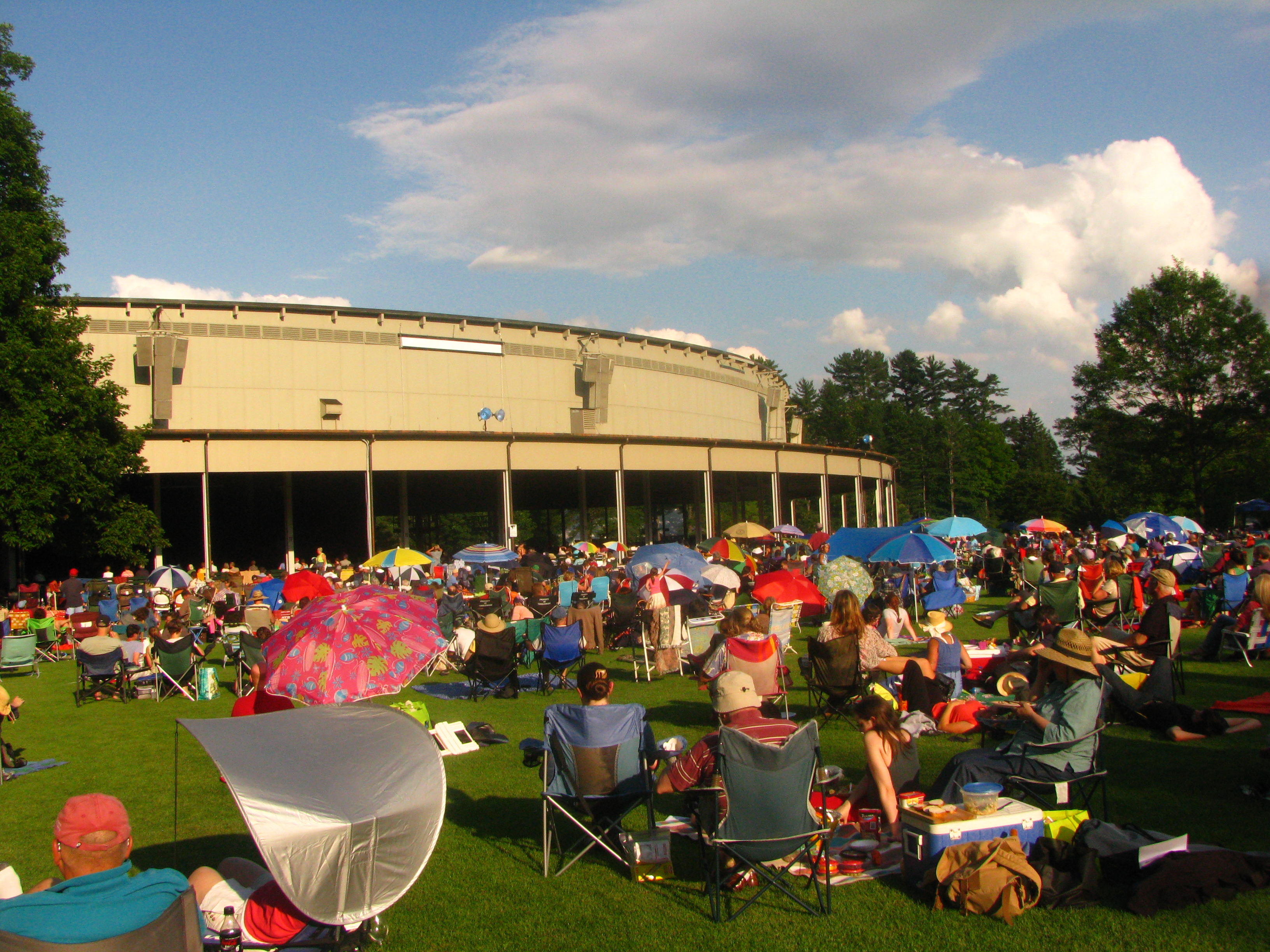 Pleasant summer evening a prairie home companion at for The tanglewood