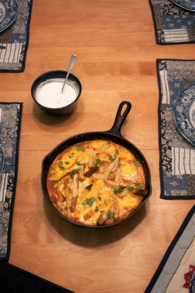 Inspired by Smitten Kitchen: Baked Ranchero Eggs - Sweet and Savoring [photo by Andy Milford]