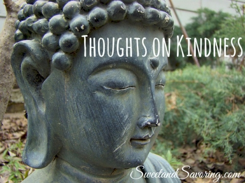 Thoughts on Kindness - Sweet and Savoring