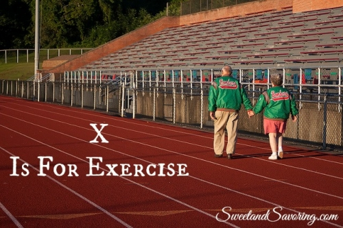 X Is For Exercise - Sweet and Savoring [photo by Andy Milford]