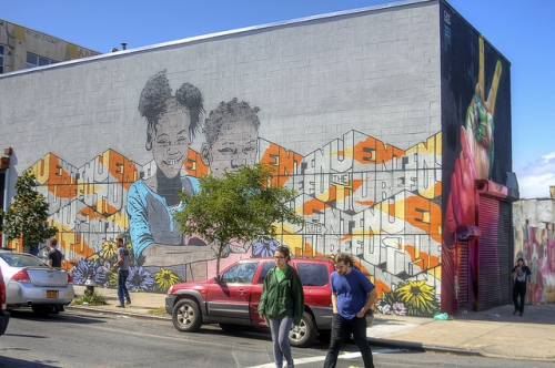 Brooklyn Street Art Part II: The Bushwick Collective - Sweet and Savoring [photo by Andy Milford]